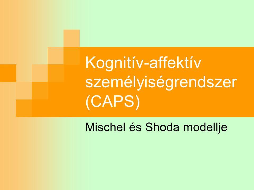 Kognitív-affektív személyiségrendszer (CAPS) Mischel és Shoda modellje