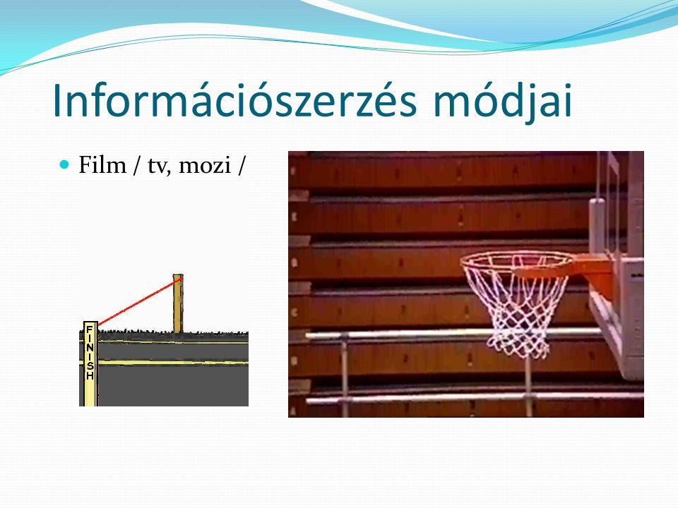 Információszerzés módjai Film / tv, mozi /