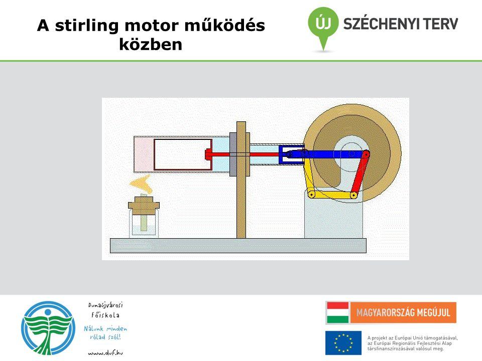 A stirling motor működés közben