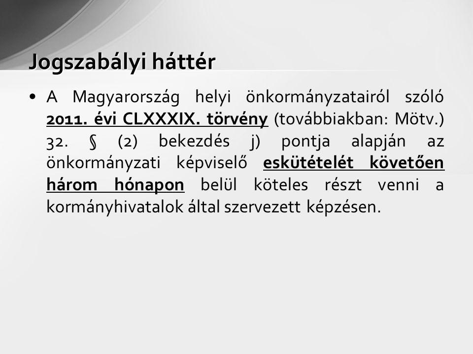 A Magyarország helyi önkormányzatairól szóló 2011. évi CLXXXIX. törvény (továbbiakban: Mötv.) 32. § (2) bekezdés j) pontja alapján az önkormányzati ké