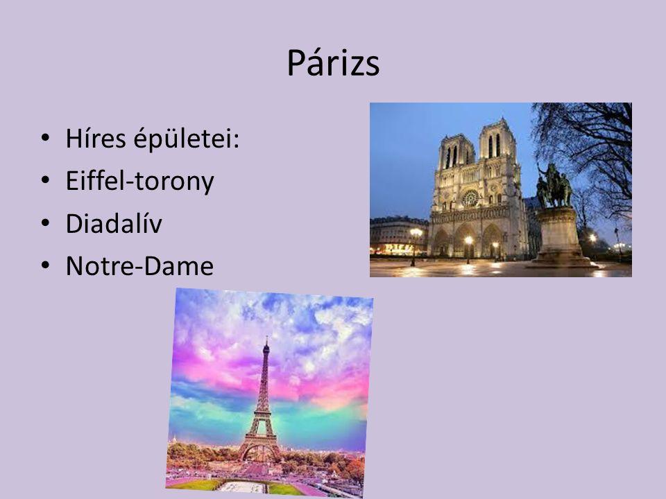 Párizs Híres épületei: Eiffel-torony Diadalív Notre-Dame