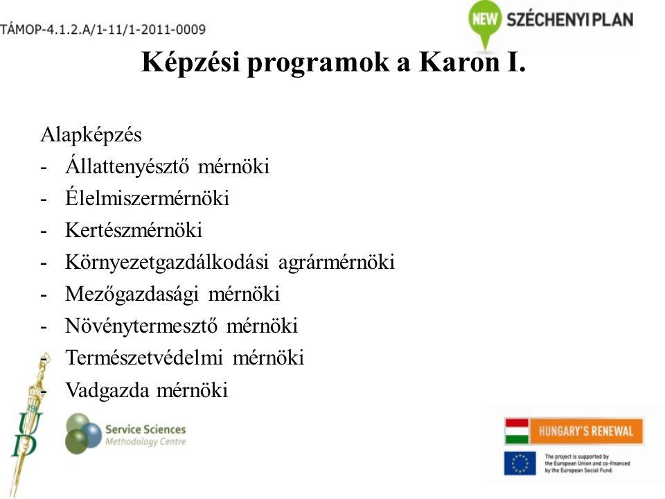 Képzési programok a Karon I.