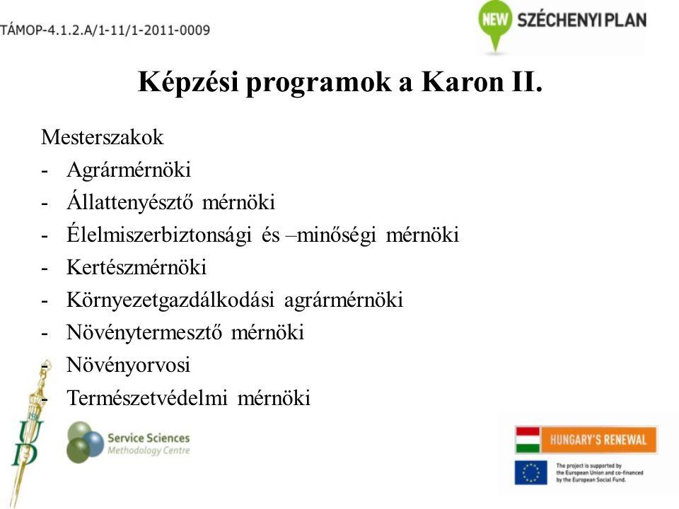 Képzési programok a Karon II.
