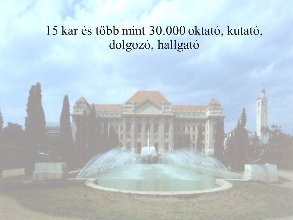 Néhány számadat a Debreceni Egyetemről  Hallgatói létszám: 29 714  25 doktori iskola  13 oktató, kutató tagja a Magyar Tudományos Akadémiának  192 egyetemi tanár  Teljes munkaidős oktatók: 1 415  Teljes munkaidős kutatók: 196  Teljes munkaidős dolgozók: 4 480 A Debreceni Egyetem elnyerte a Felsőoktatási Minőség Díj arany fokozatát.