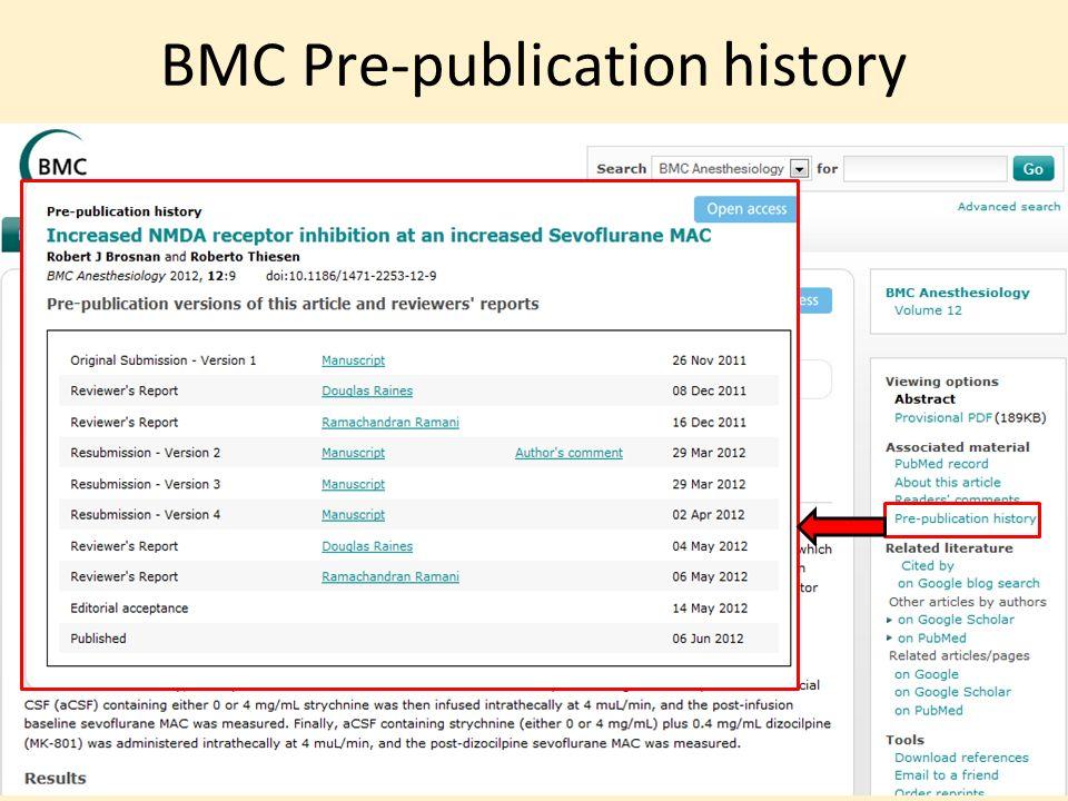 BMC Pre-publication history