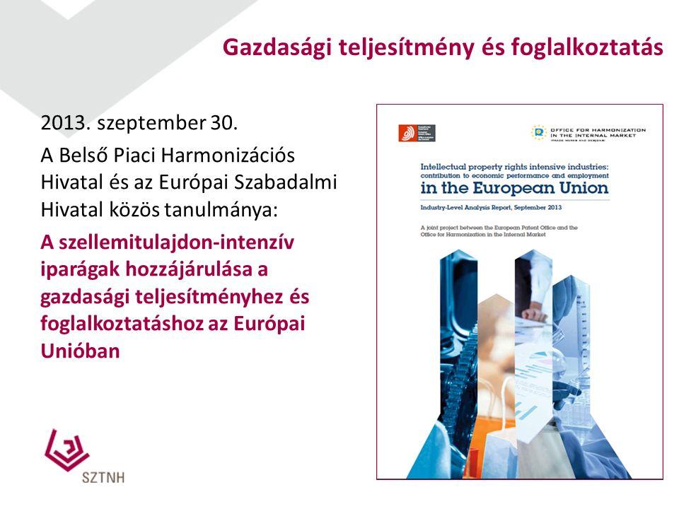 2 Gazdasági teljesítmény és foglalkoztatás 2013. szeptember 30.