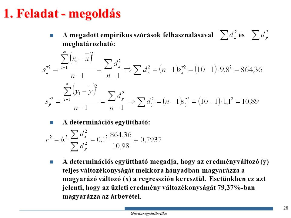Gazdaságstatisztika 1.