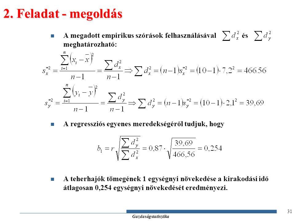 Gazdaságstatisztika 2.