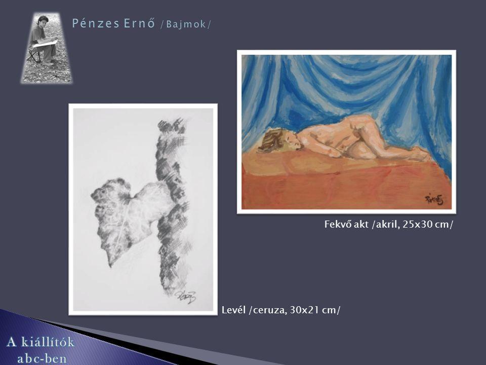 Kroki /diópác, 25x35 cm/ Koponya /akril, 30x25 cm/ Új hajtás /akvarell, 35x25 cm/