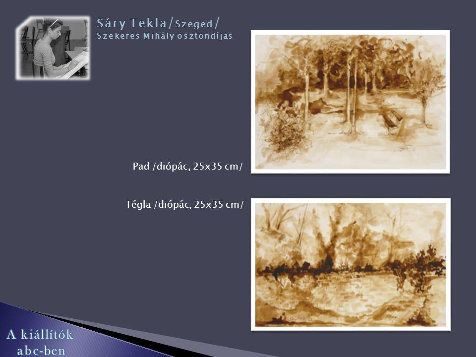 Levél /akril, 25x30 cm/ Fa /akvarell, 35x25 cm/