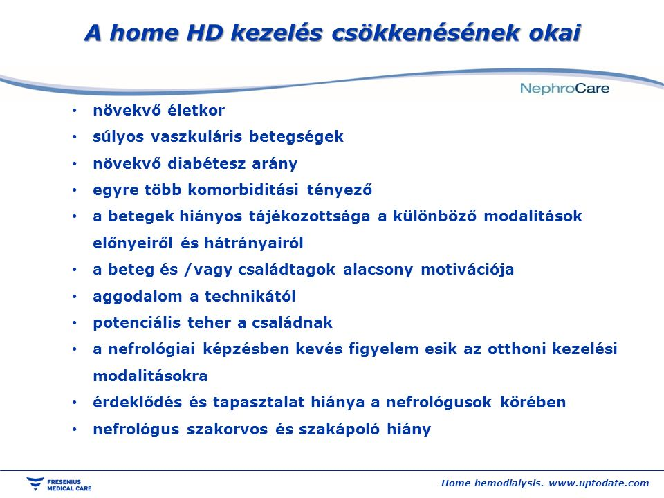 Home hemodialysis.