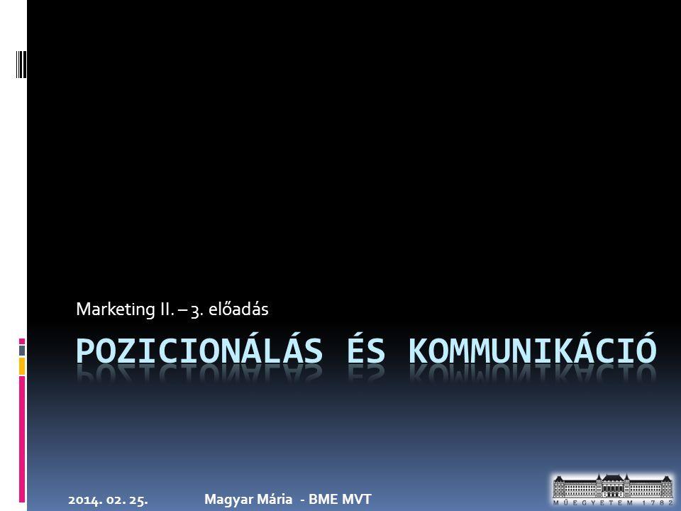 2014. 02. 25.Magyar Mária - BME MVT Marketing II. – 3. előadás
