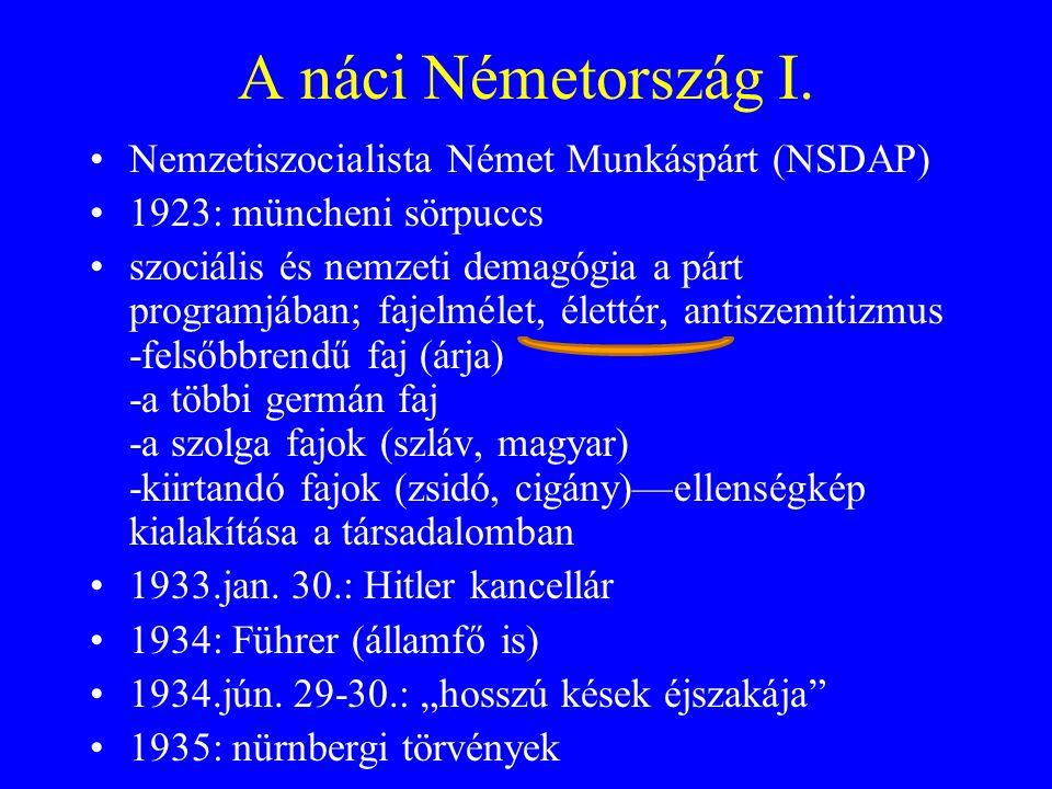 A náci Németország I.