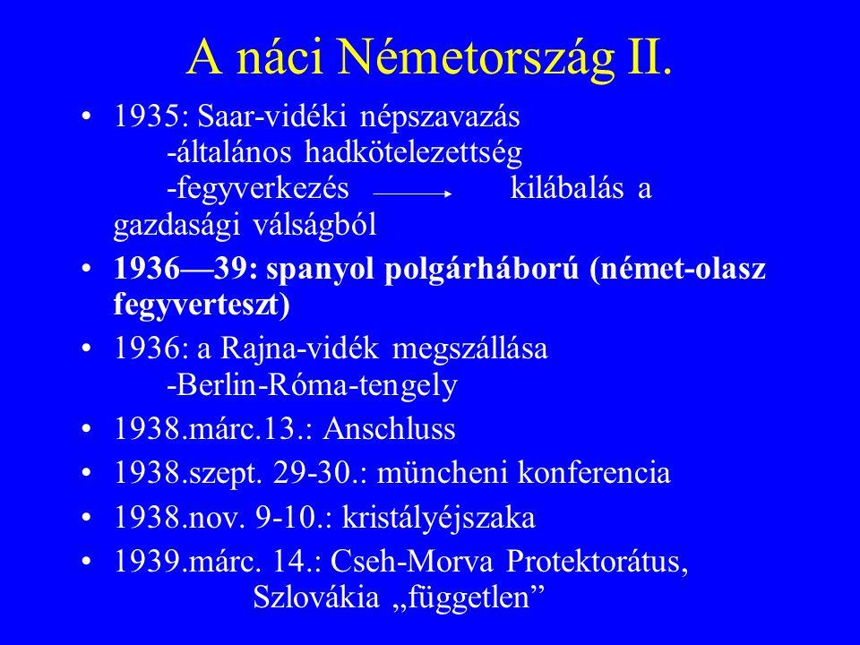 A náci Németország II.