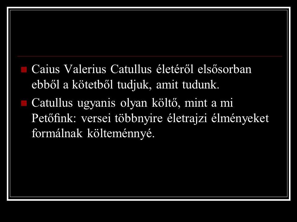 d) Olvassa el a másik fordítást is.Ne járd, szegény Catullus, a bolondját.