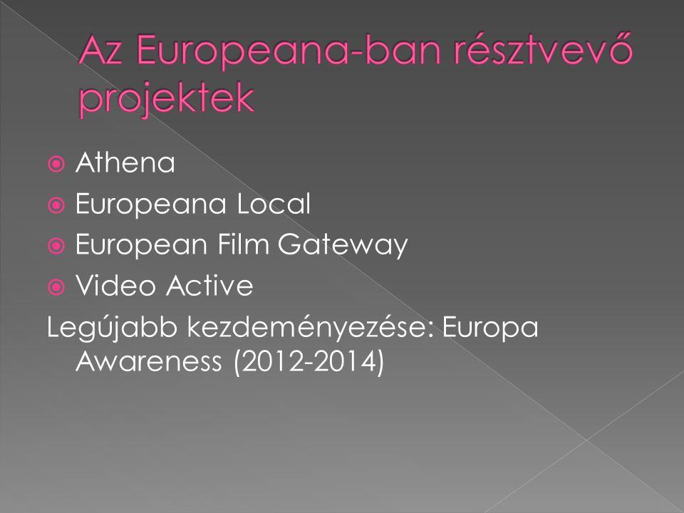 Promóciós videó: https://www.youtube.com/watch?v=cwH Vie7GpNw A videó célja, hogy az európai intézményeket rávegye, hogy digitális tartalmaikat tegyék elérhetővé az Europeana számára.