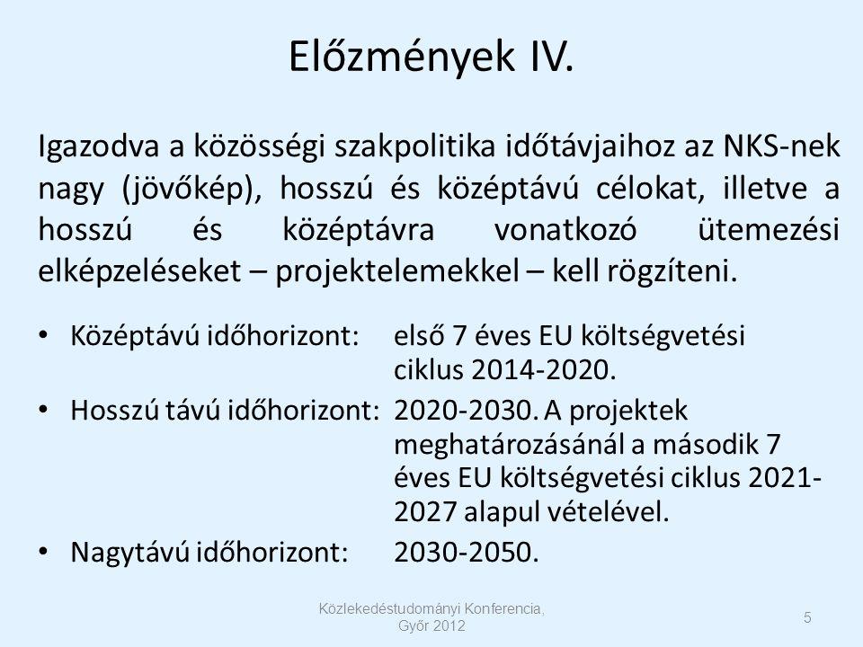 Előzmények IV. Igazodva a közösségi szakpolitika időtávjaihoz az NKS-nek nagy (jövőkép), hosszú és középtávú célokat, illetve a hosszú és középtávra v