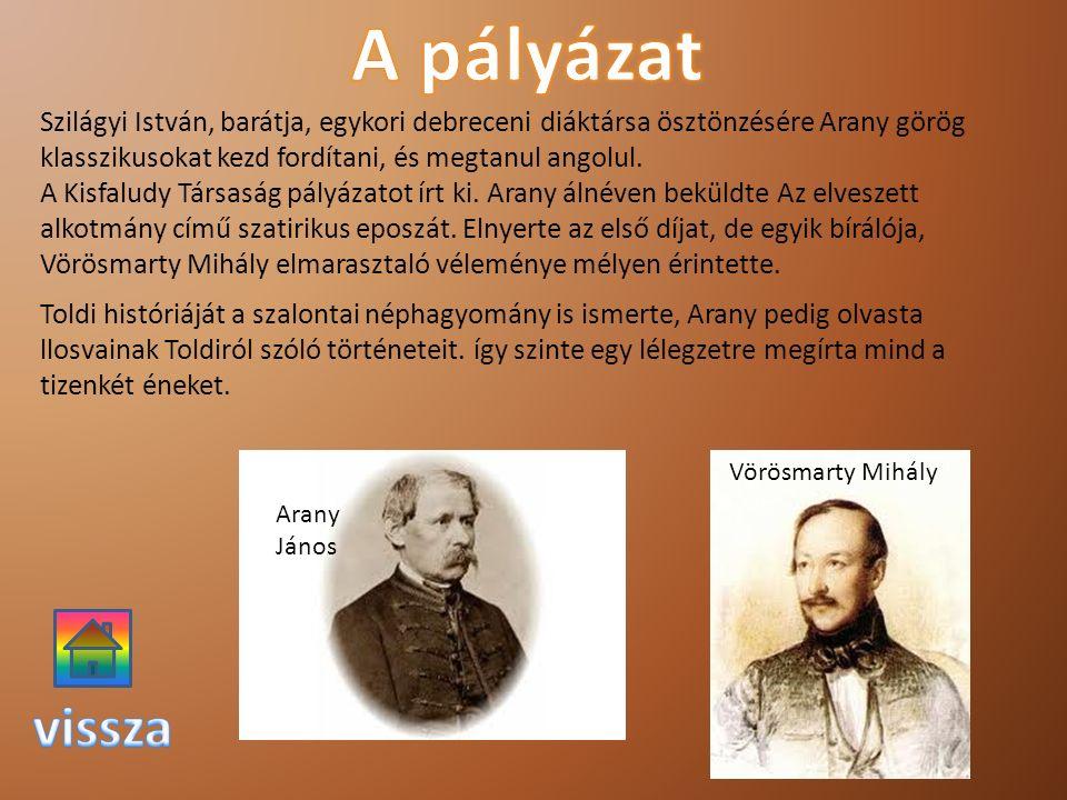 Szilágyi István, barátja, egykori debreceni diáktársa ösztönzésére Arany görög klasszikusokat kezd fordítani, és megtanul angolul. A Kisfaludy Társasá