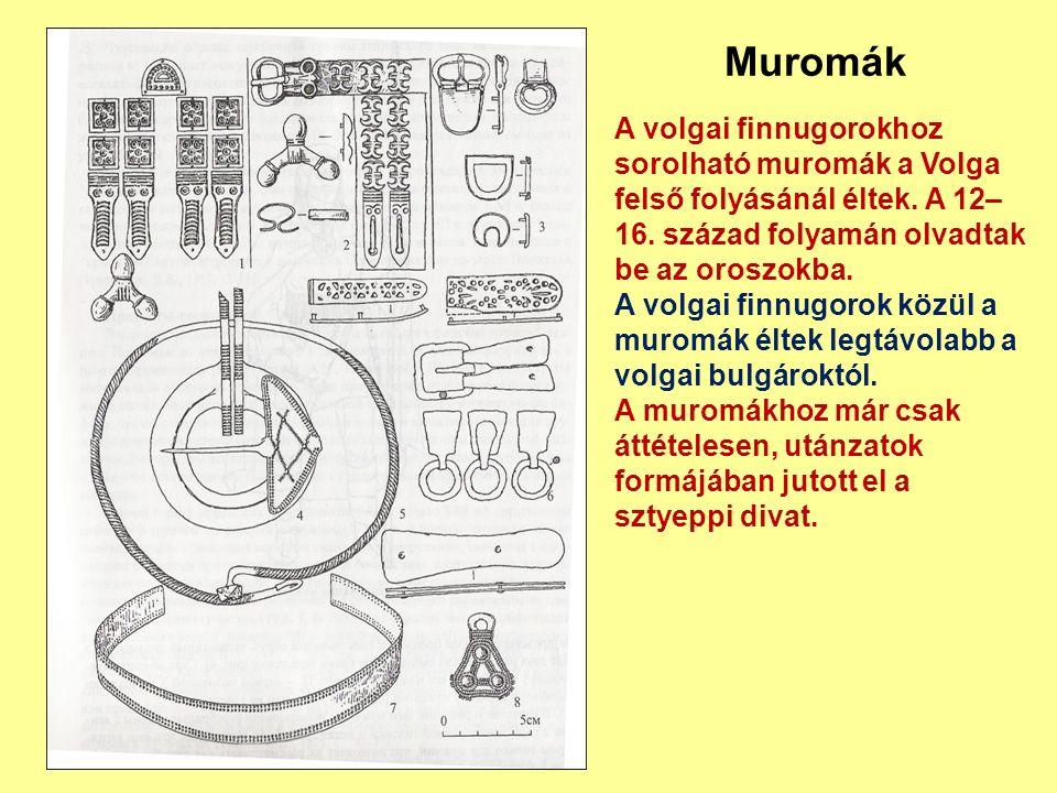 A volgai finnugorokhoz sorolható muromák a Volga felső folyásánál éltek. A 12– 16. század folyamán olvadtak be az oroszokba. A volgai finnugorok közül