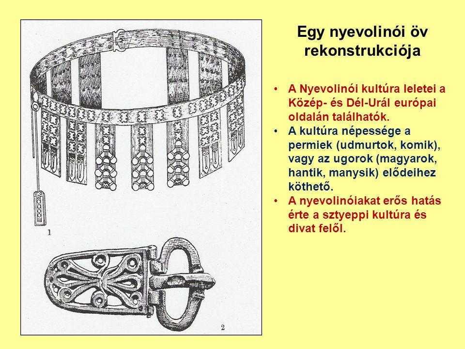 Egy nyevolinói öv rekonstrukciója A Nyevolinói kultúra leletei a Közép- és Dél-Urál európai oldalán találhatók. A kultúra népessége a permiek (udmurto