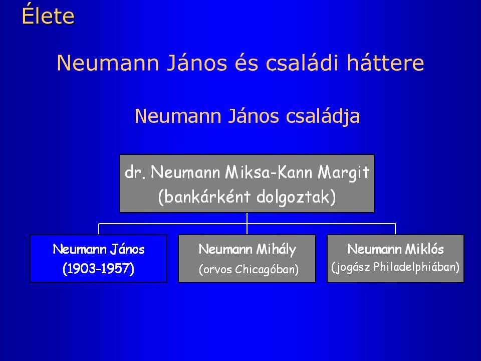 Neumann János és családi háttereÉlete