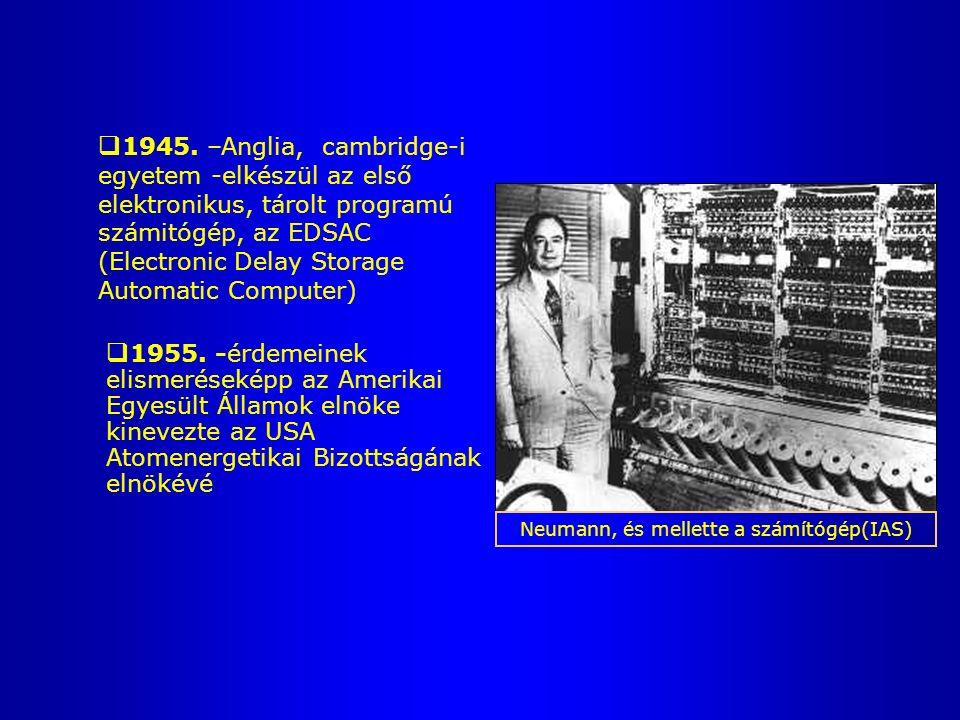  1929. -a Princeton University-n vendégprofesszorként tart előadásokat  1945-1957 között - princetoni Elektronikus Számítógép projekt igazgatója ENI