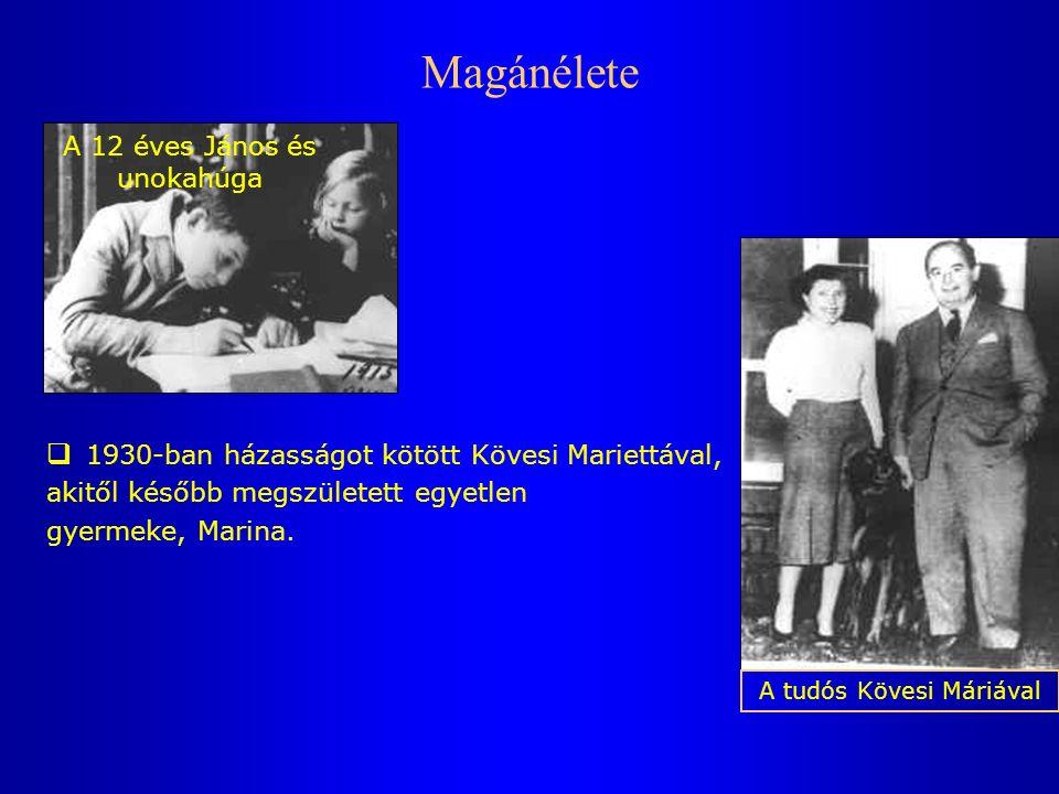 Magánélete  1930-ban házasságot kötött Kövesi Mariettával, akitől később megszületett egyetlen gyermeke, Marina.