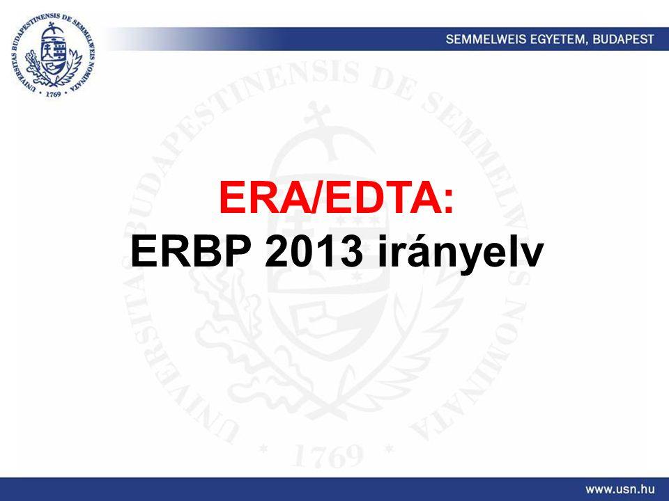ERA/EDTA: ERBP 2013 irányelv