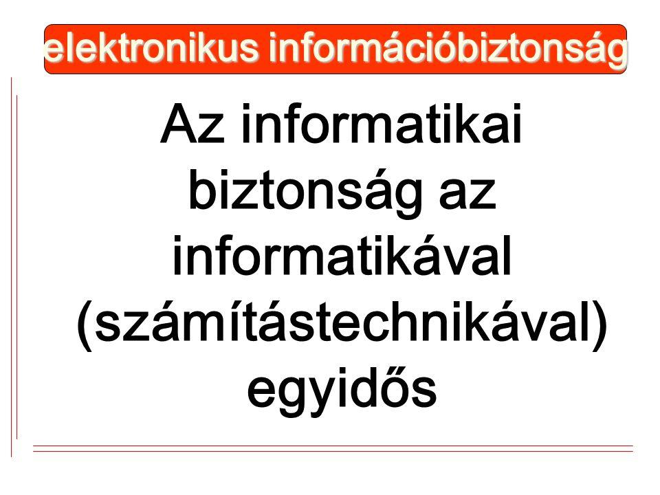 Az informatikai biztonság az informatikával (számítástechnikával) egyidős elektronikus információbiztonság