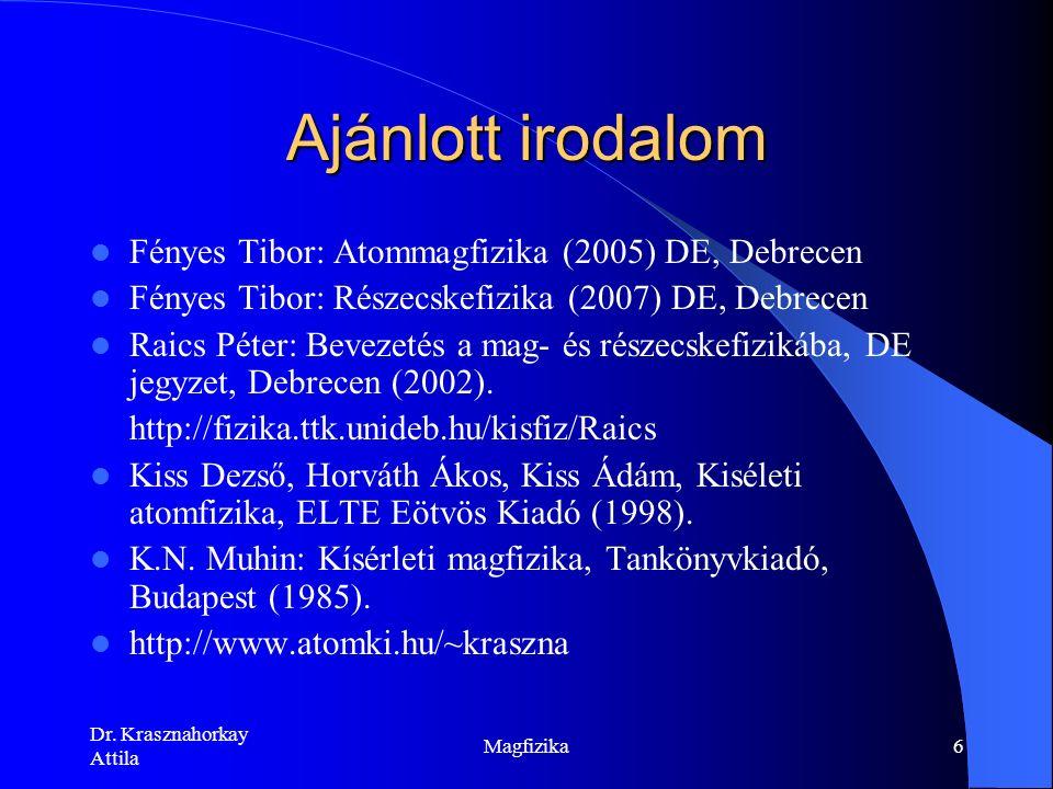 http://mta.hu/tudomany_hirei/a-sotet- fotonra-utalo-jeleket-figyeltek-meg- debrecenben-105693 Dr. Krasznahorkay Attila Magfizika5