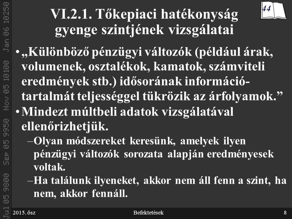 2015.őszBefektetések39 VI.2.2.b.