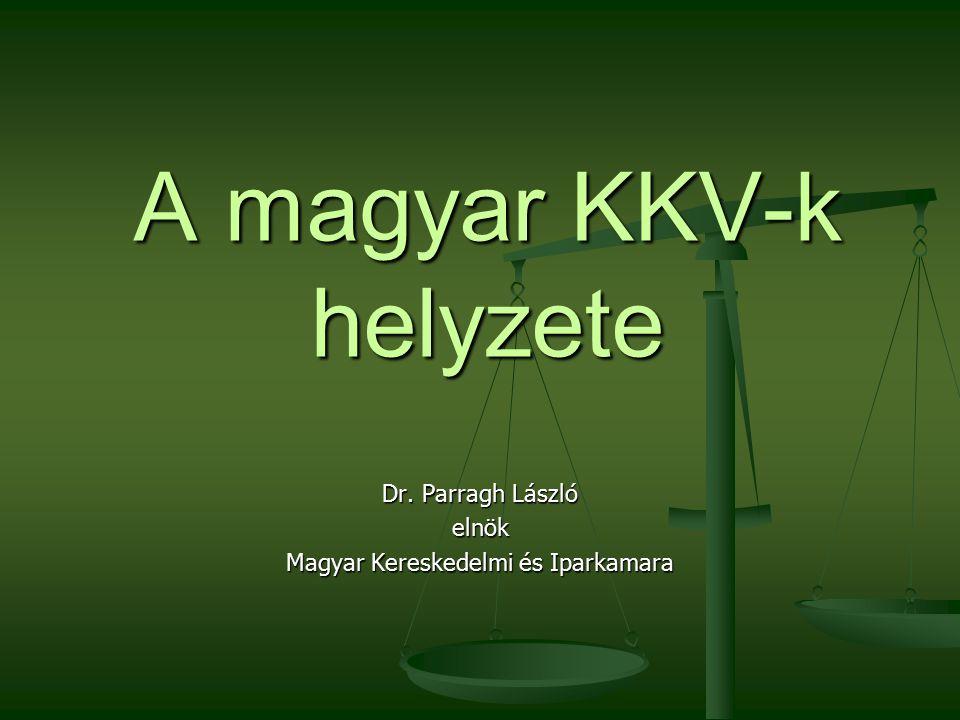 A magyar KKV-k helyzete Dr. Parragh László elnök Magyar Kereskedelmi és Iparkamara