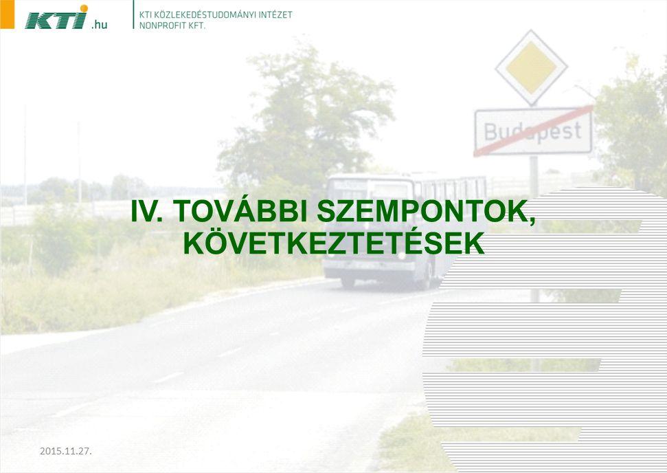 IV. TOVÁBBI SZEMPONTOK, KÖVETKEZTETÉSEK 2015.11.27.