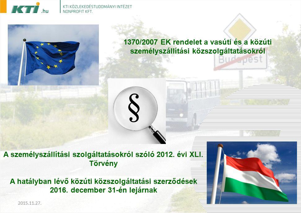 A személyszállítási szolgáltatásokról szóló 2012. évi XLI.