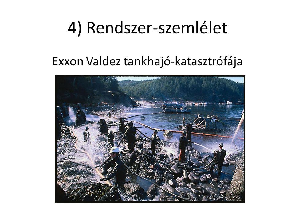 4) Rendszer-szemlélet Exxon Valdez tankhajó-katasztrófája