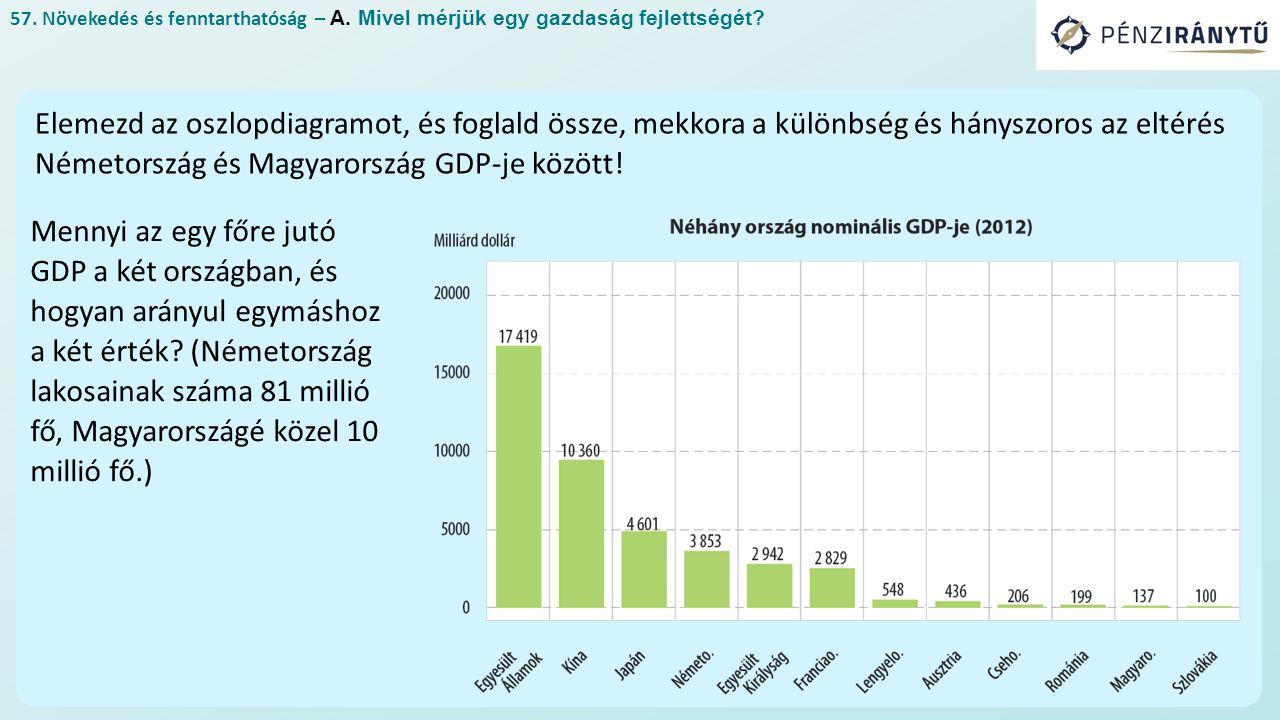 57. Növekedés és fenntarthatóság – A. Mivel mérjük egy gazdaság fejlettségét.