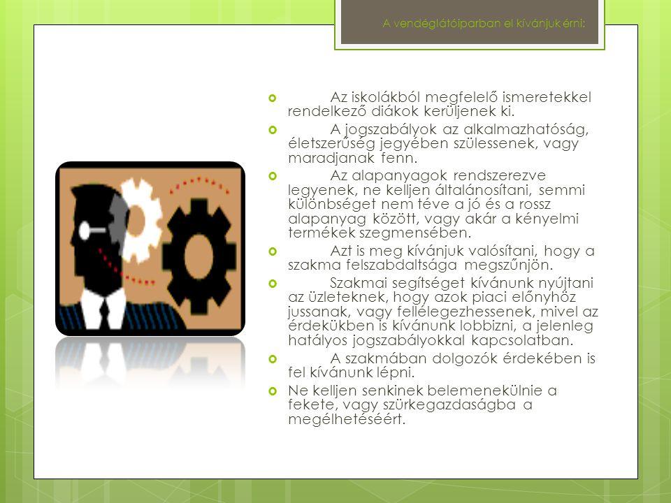 A termelőkkel kapcsolatosan:  El kívánjuk érni, hogy Magyarországon a lehető legjobb minőségben, hosszú távon is meg tudjuk termelni/termeltetni a megfelelő minőségű alapanyagokat.