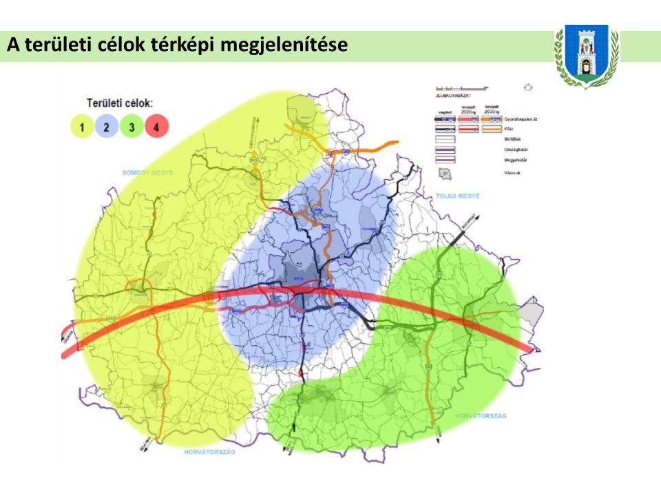 A területi célok térképi megjelenítése