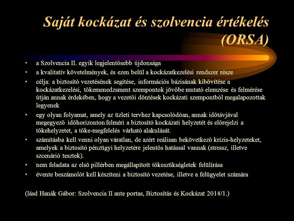 Saját kockázat és szolvencia értékelés (ORSA) a Szolvencia II.