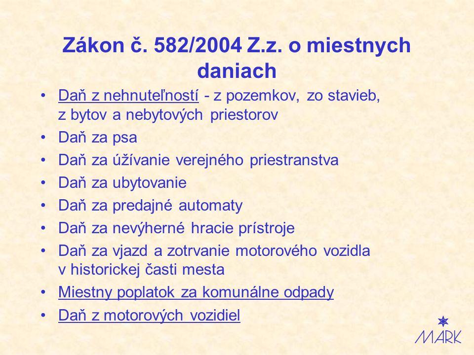 Zákon č. 582/2004 Z.z.