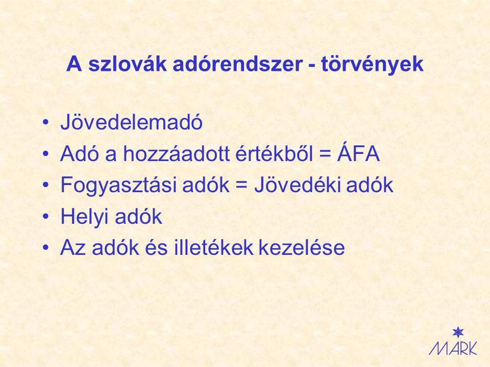 Daňový systém na Slovensku - zákony Daň z príjmu Daň z pridanej hodnoty Spotrebné dane Miestne dane Správa daní a poplatkov