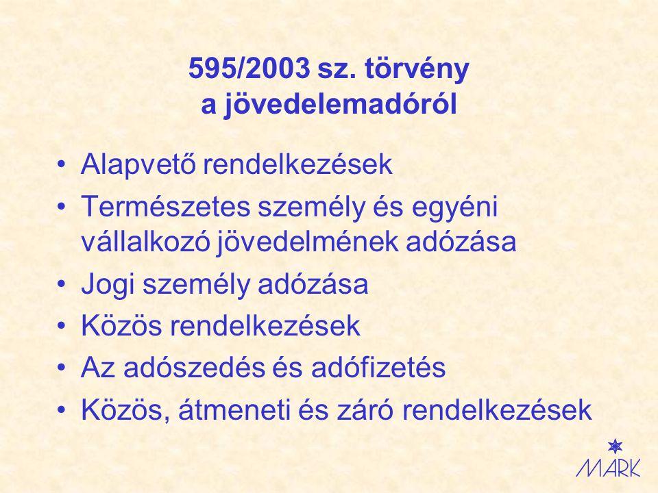 Zákon č.595/2003 Z.z.