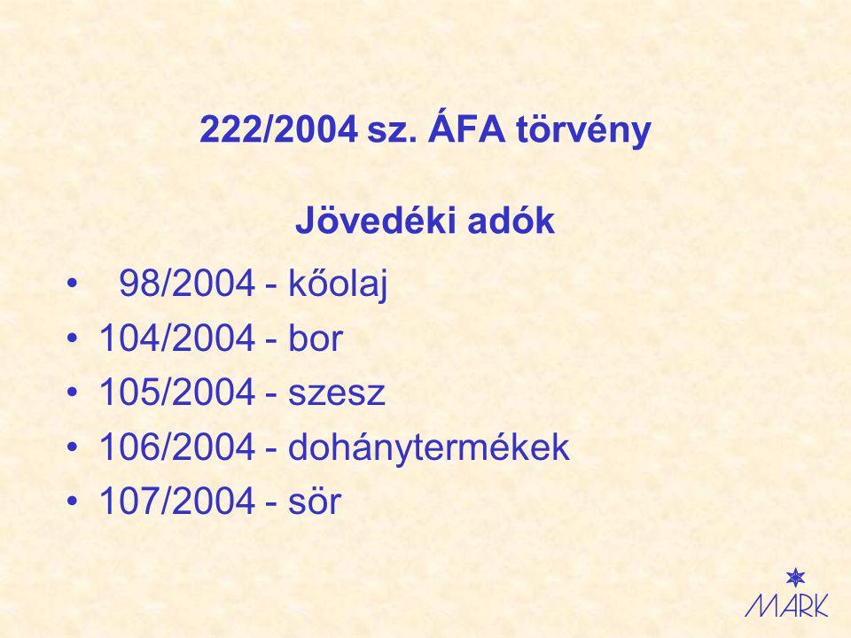 Zákon č.222/2004 Z.z. o DPH Spotrebné dane č. 98/2004 - z minerálneho oleja č.