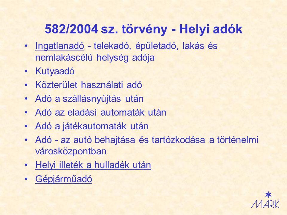 Zákon č.582/2004 Z.z.