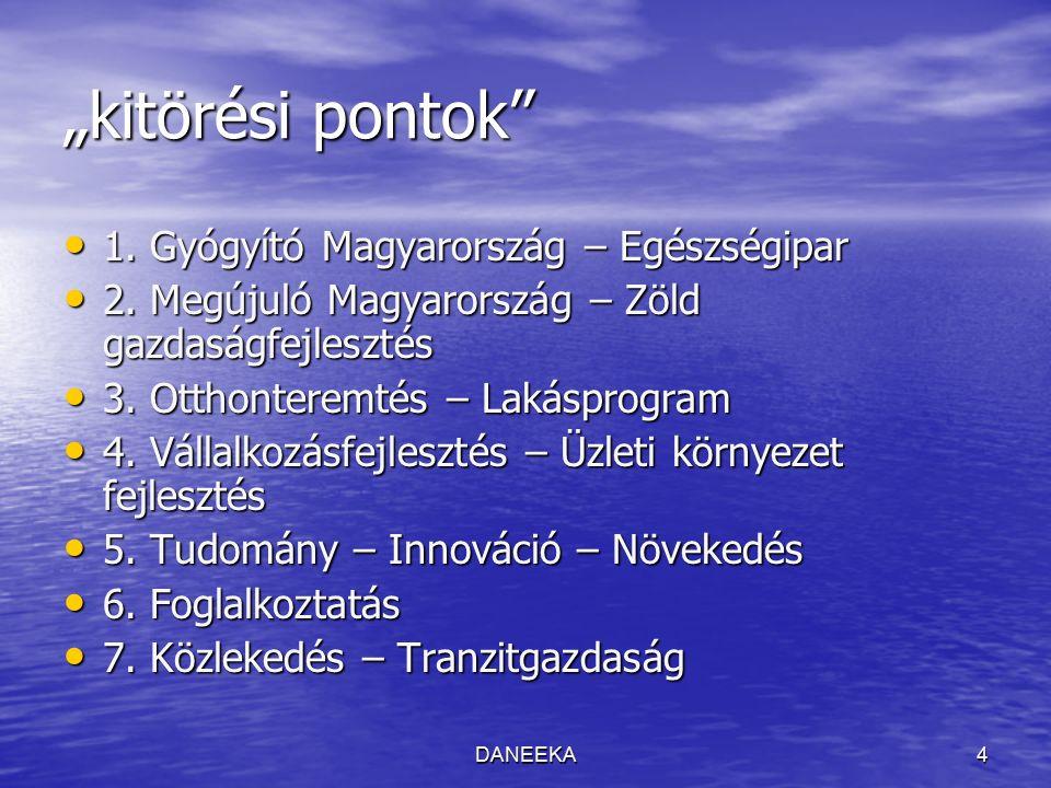 """DANEEKA4 """"kitörési pontok 1. Gyógyító Magyarország – Egészségipar 1."""