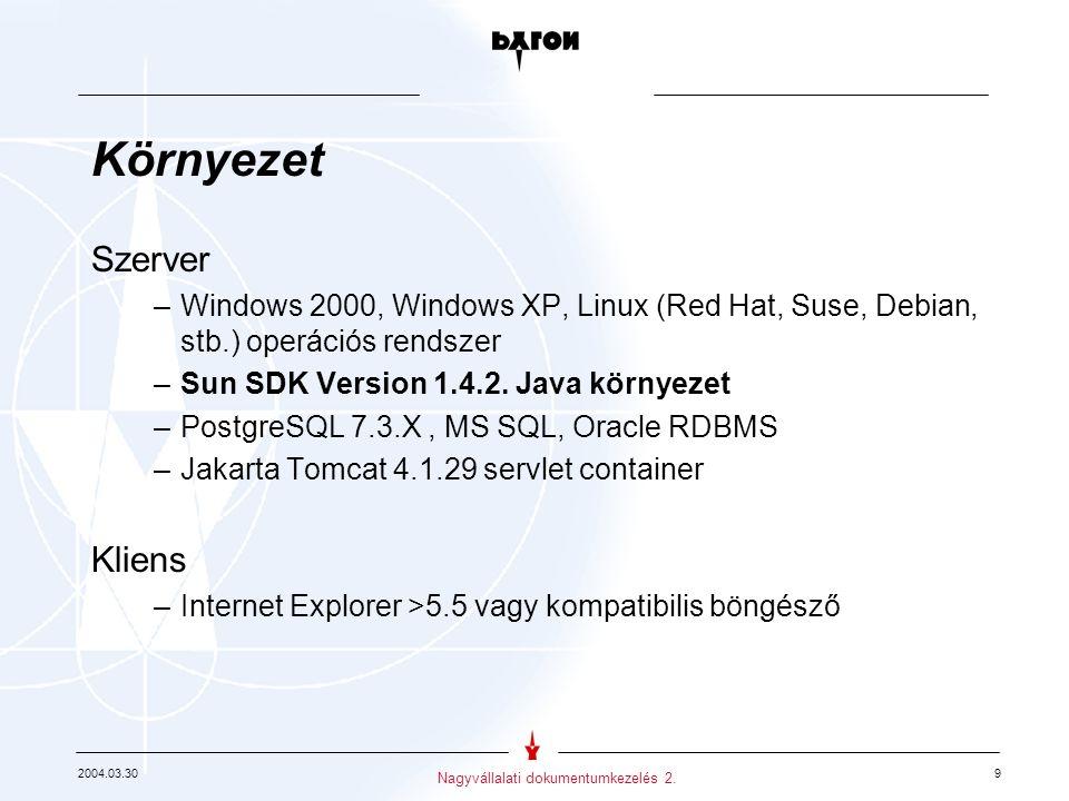 2004.03.30 10 Nagyvállalati dokumentumkezelés 2.
