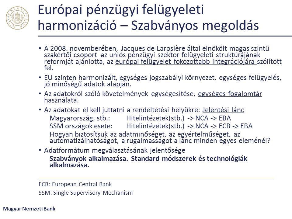 Európai pénzügyi felügyeleti harmonizáció – Szabványos megoldás A 2008.