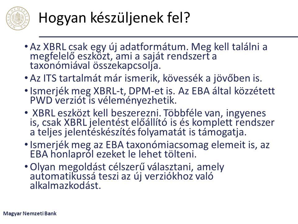 Hogyan készüljenek fel.Az XBRL csak egy új adatformátum.