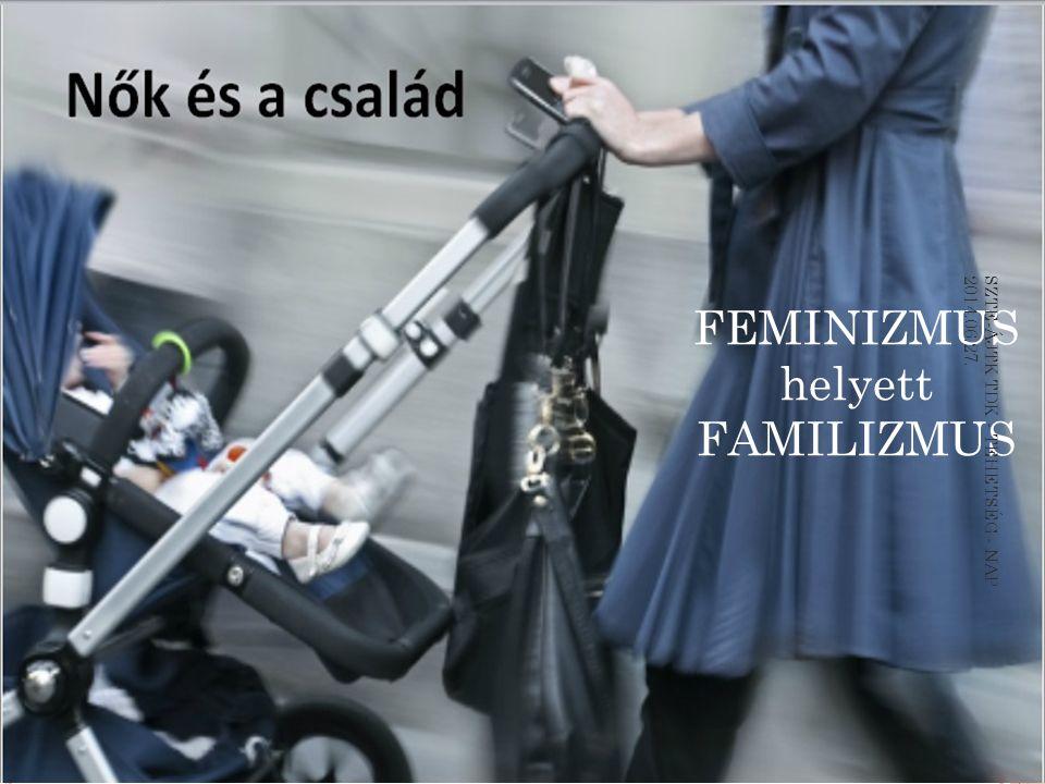 FEMINIZMUS helyett FAMILIZMUS SZTE-ÁJTK TDK - TEHETSÉG - NAP 2014.06.27.