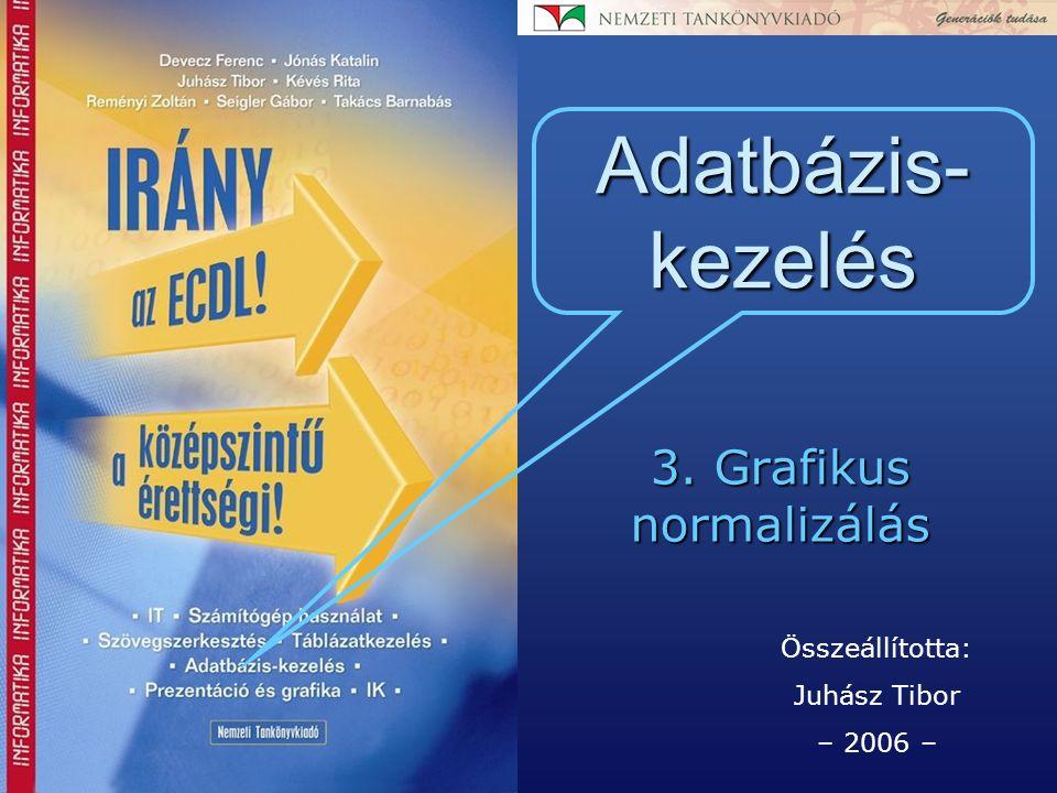 Összeállította: Juhász Tibor – 2006 – Adatbázis- kezelés 3. Grafikus normalizálás